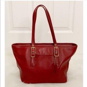 Coach Vintage 9847 Red Legacy Market Tote Bag